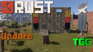 Rust- Update 84: Signs, Banners, Turrets, Throwing Weapons, Halloween Skins, No more Half Blocks!