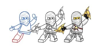 How to draw zane ninjago AntiDiary