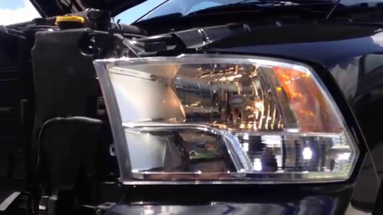 maxresdefault 2014 dodge ram headlight conversion youtube Motorcycle Headlight Wiring Harness at gsmportal.co