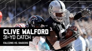 Derek Carr Connects with Clive Walford for 31-Yard TD! | Falcons vs. Raiders | NFL