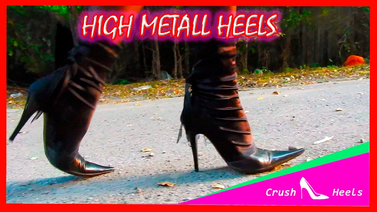 fdcc3a745233 WALKING ON ROAD SEXY BOTS HIGH METALL HEELS part 2 - YouTube