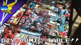 DIY COMIC  BOOK TABLE!!   Vlog 6