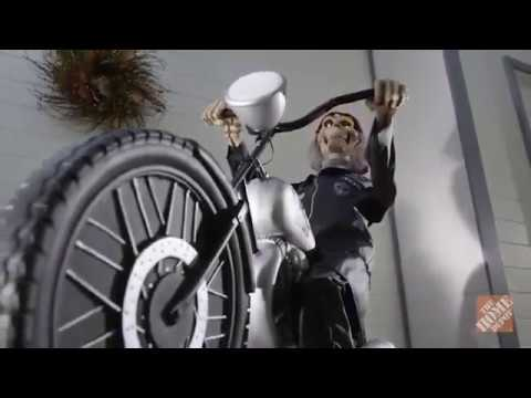 53 in. Motorcycle Riding Reaper - Home Depot Halloween 2017
