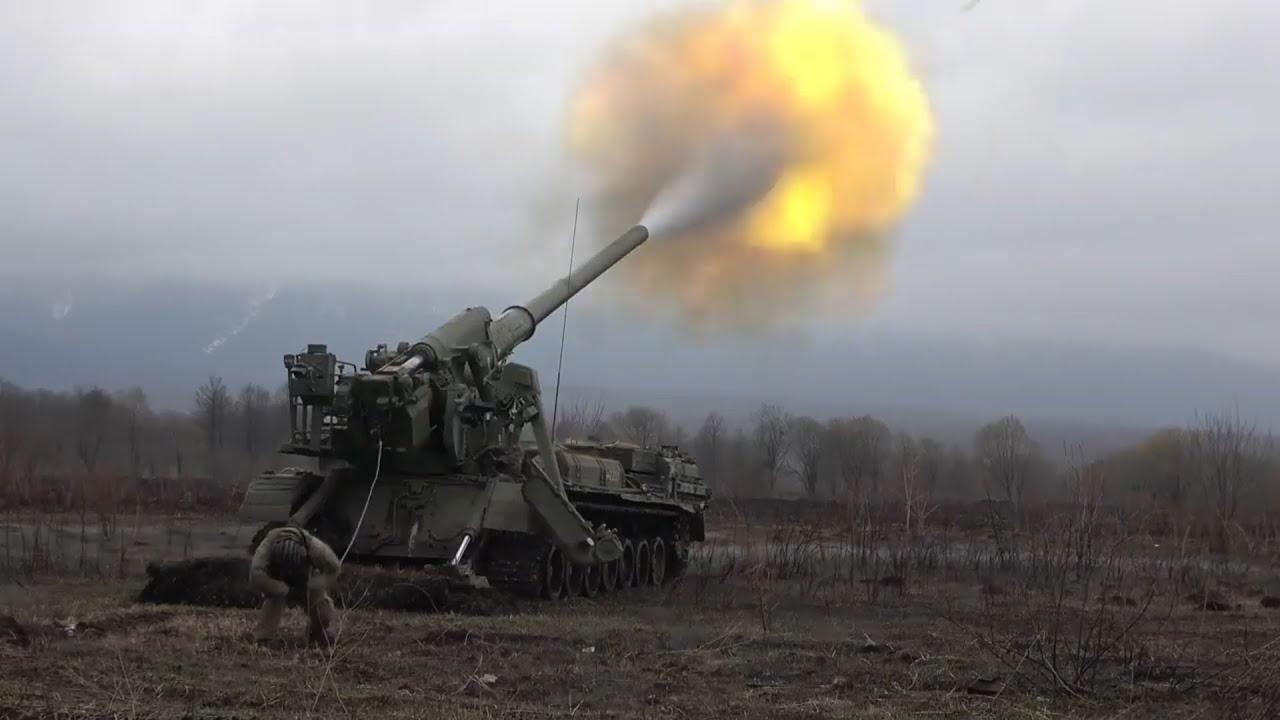 Учебные стрельбы из «Тюльпанов» и «Пионов» в Северной Осетии