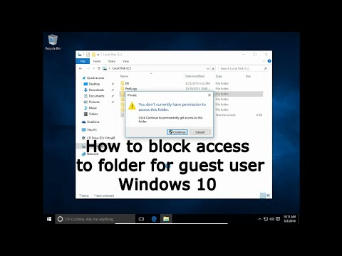 How to give access to the folder