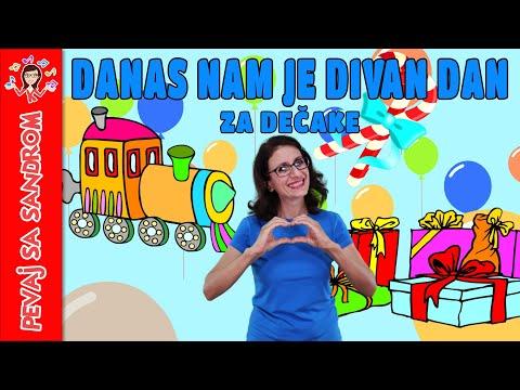 🎈 Danas nam je divan dan (rođendanska, za dečake) 🎈 Pevaj sa Sandrom | Dečije pesme