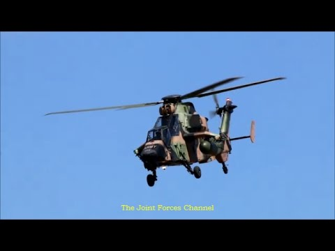 Australian Tiger ARH Attack Helicopters And MRH90s Display At Avalon Airshow 2017