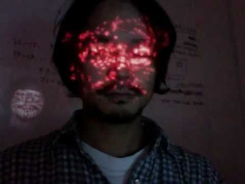face projection test -00 (Daito Manabe with Zachary Lieberman)