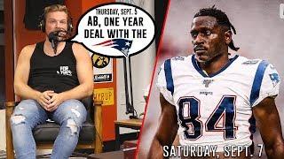 Pat McAfee Predicts Antonio Brown To The Patriots