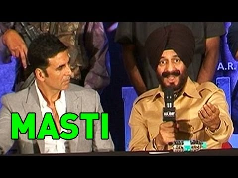 Akshay Kumar's 'MASTI' at a tional Event of 'HOLIDAY'