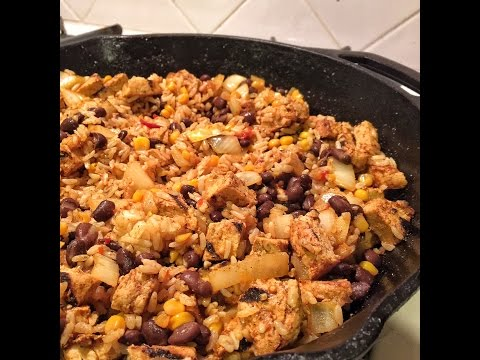 Mexican Fried Rice with Black Beans and Chick'n | Meatless Monday Week 37