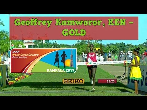 Geoffrey Kamworor, KEN - GOLD - World XC Ch - 2nd half of the Race - Kampala, 26 mar 2017