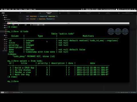 Build a Full Stack JavaScript CRUD App with Node/Express/Handlebars/Bootstrap/Postgres/Knex