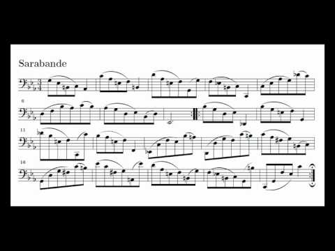 J. S. Bach Cello Suite n. 5 BWV 1011 - 4. Sarabande - Piano Transcription [tbpt47]