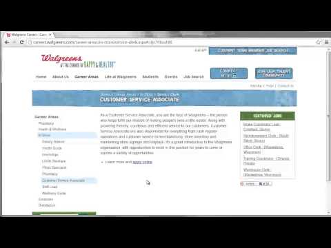 Walgreens Application Online Video