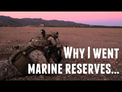 Why I Joined the Marine Reserves and Not Active Duty|Personal Story