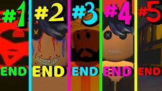 Roblox All 5 Endings Happy Birthday Isabella Remastered