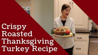 Juicy Roasted Thanksgiving Turkey/with Herb Butter
