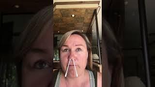 Woman Fails at Waxing Nose - 1038561-1
