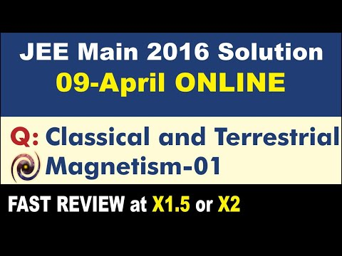 JEE Main Solution 2016 Online   Classical and Terrestrial Magnetism 01
