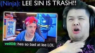 I analyzed Ninja playing League of Legends but he's playing Jungle in ranked..