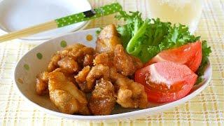 No Egg Microwave Karaage (japanese Fried Chicken) クックパー レンジでから揚げ - Ochikeron - Create Eat Happy