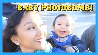 Baby Photobomb!