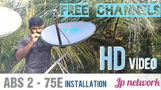ABS 2 - 75E Ku band dish Installation setup - ABS FREEDISH - 60CM Ku band dish