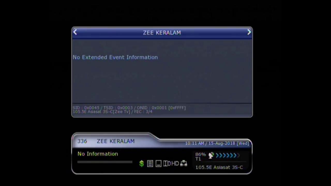 Zee Keralam on Asiasat7