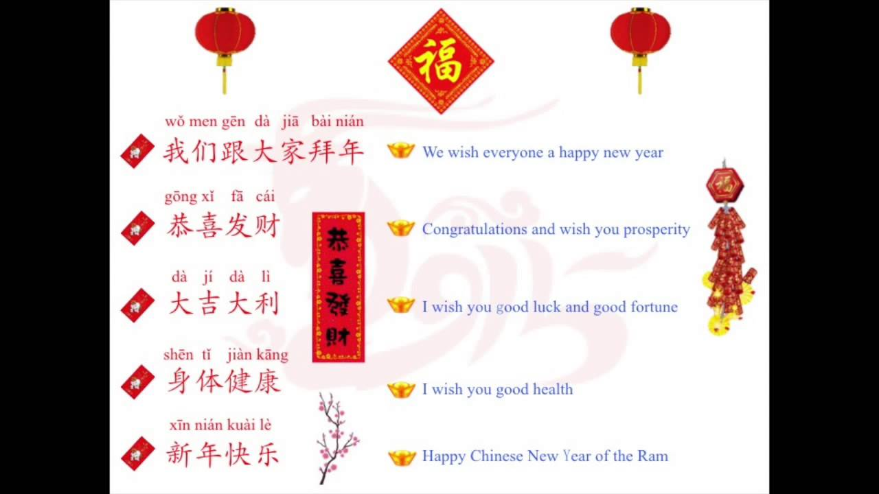 Chinese New Year Phrases - YouTube