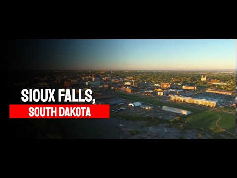 Sioux Falls, South Dakota! USA! 4K Drone Aerials!