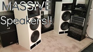 MASSIVE Custom Built Speakers!