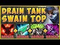 JUST HOW ABSURD IS DRAIN TANK SWAIN?? LIFESTEAL SWAIN SEASON 9 TOP GAMEPLAY! - League of Legends