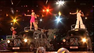 "Spice Girls perform ""Wannabe"" and ""Spice up your life"" at the Olymp..."