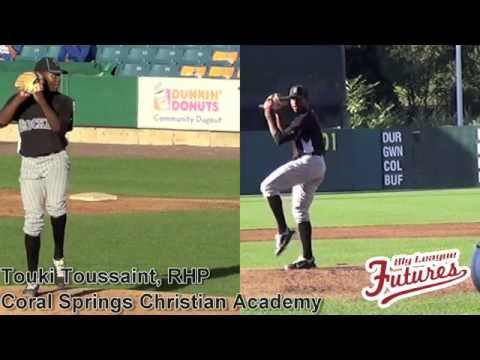 Touki Toussaint Prospect Video, RHP, Coral Springs Christian Academy at East Coast Pro #mlbdraft
