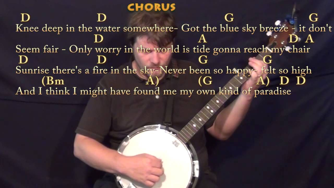 Knee Deep Zac Brown Banjo Cover Lesson In D With Chordslyrics