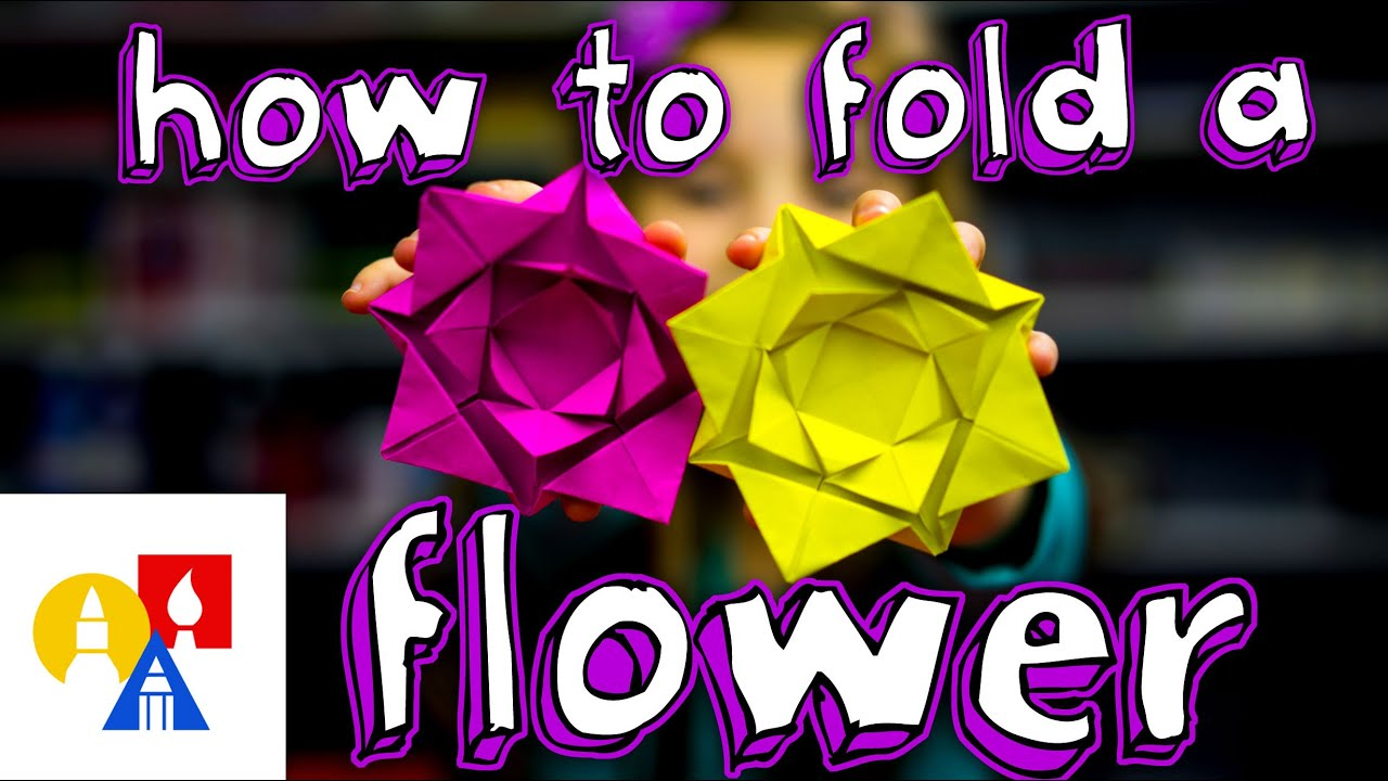 How To Fold An Easy Origami Flower Youtube