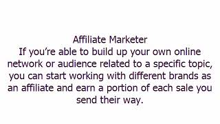 Affiliate Marketer,Small Business Ideas چھوٹے، منافع بخش منصوبوں projetos de pequenas empresas