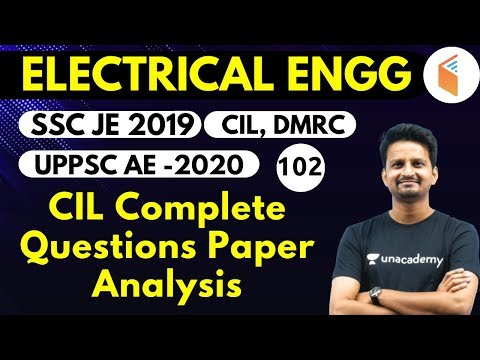 9:00 PM - SSC JE 2019 | Electrical Engg. By Ashish Sir | CIL Complete Questions Paper Analysis