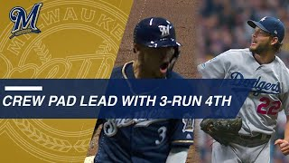 Brewers pad Game 1 lead with a three-run 4th inning