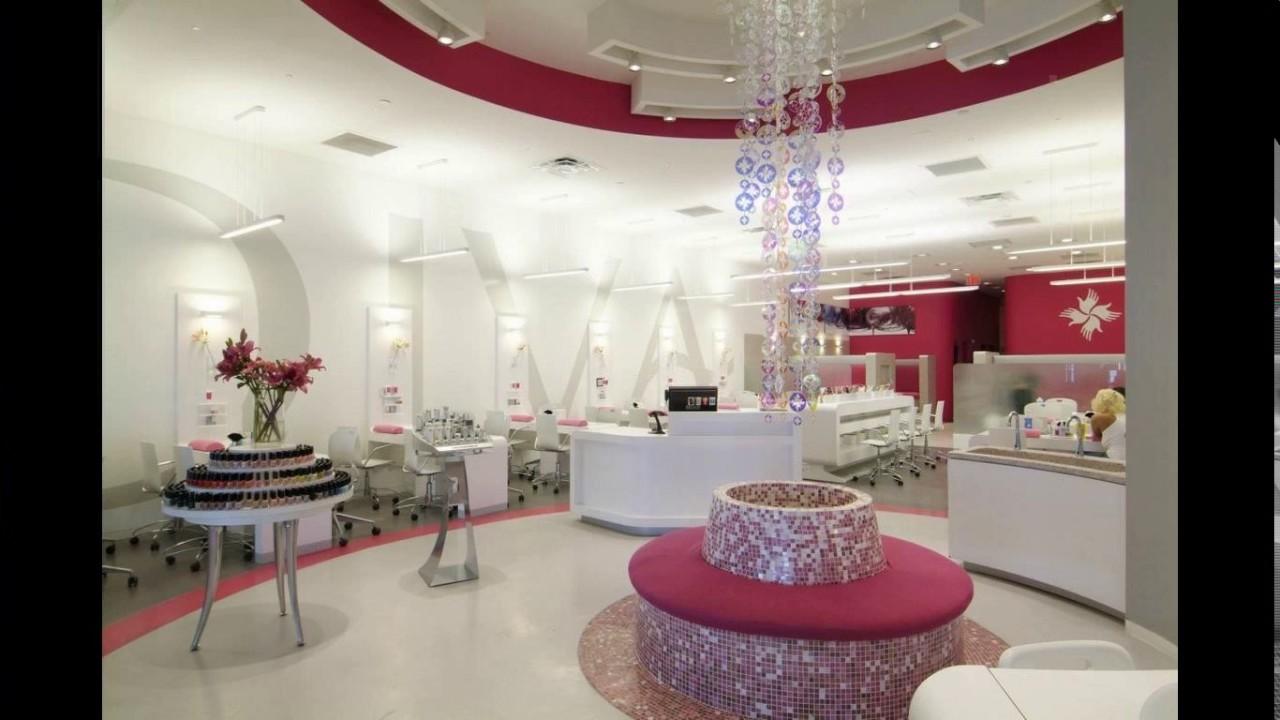 Modern nail salon design  YouTube