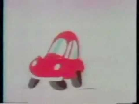 sweet little cartoon vw beetle commercial