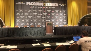LIVE! PACQUIAO BRONER POST FIGHT CONFERENCE