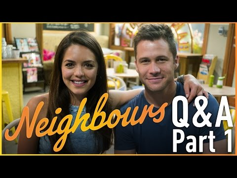 Scott McGregor Mark & Olympia Valance Paige  Neighbours Q&A Part 1