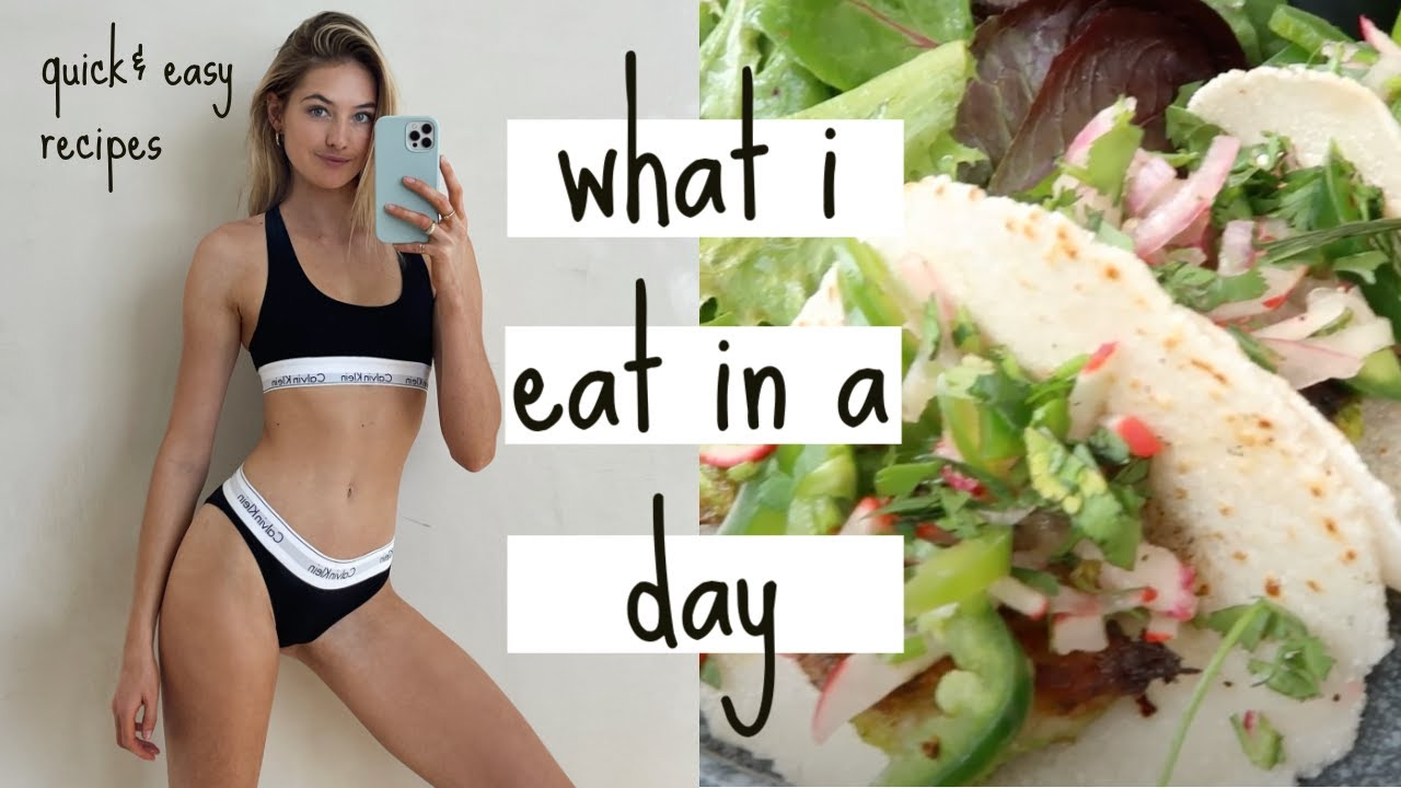 What I Eat in a Day as a model to stay fit, lean & healthy // quick & easy, healthy recipes