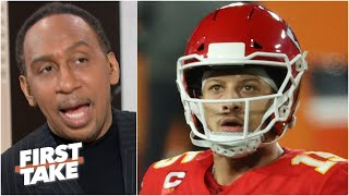 The Patrick Mahomes GOAT talk is over! - Stephen A. on the Chiefs' loss to Tom Brady | First Take