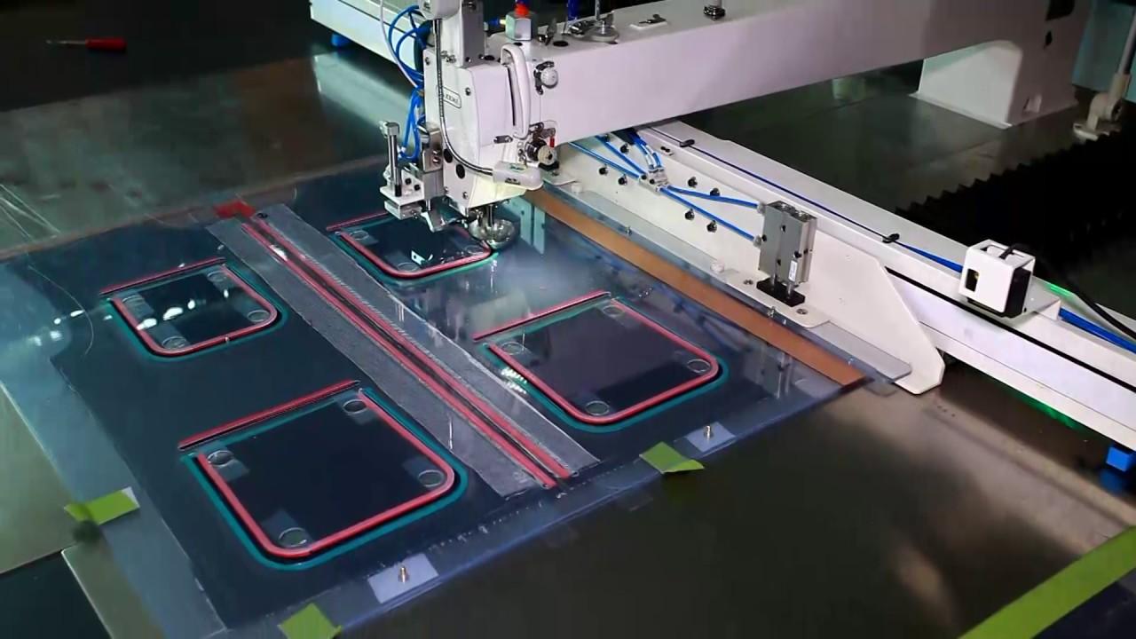 Công nghệ sản xuất sản phẩm may mặc 装拉链大容位 车袋夹袋盖模板