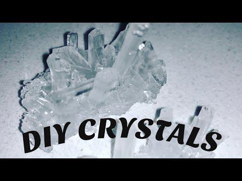 Crystals DIY Salt Crystals-homemade (Hot v Cold)