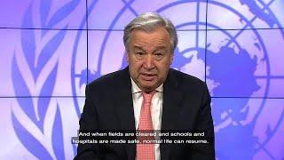 António Guterres (UN Secretary-General) on Mine Action day (4 April 2018) thumbnail