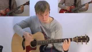 Nickelback - rockstar guitar cover by gc